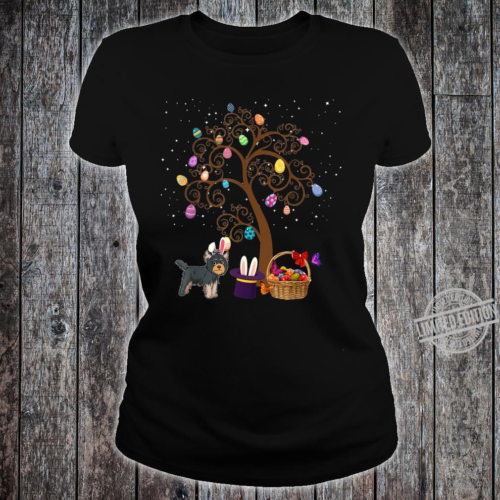 Yorkshire Terrier Dog Hunting Egg Tree Bunny Easter Day Star Shirt ladies tee