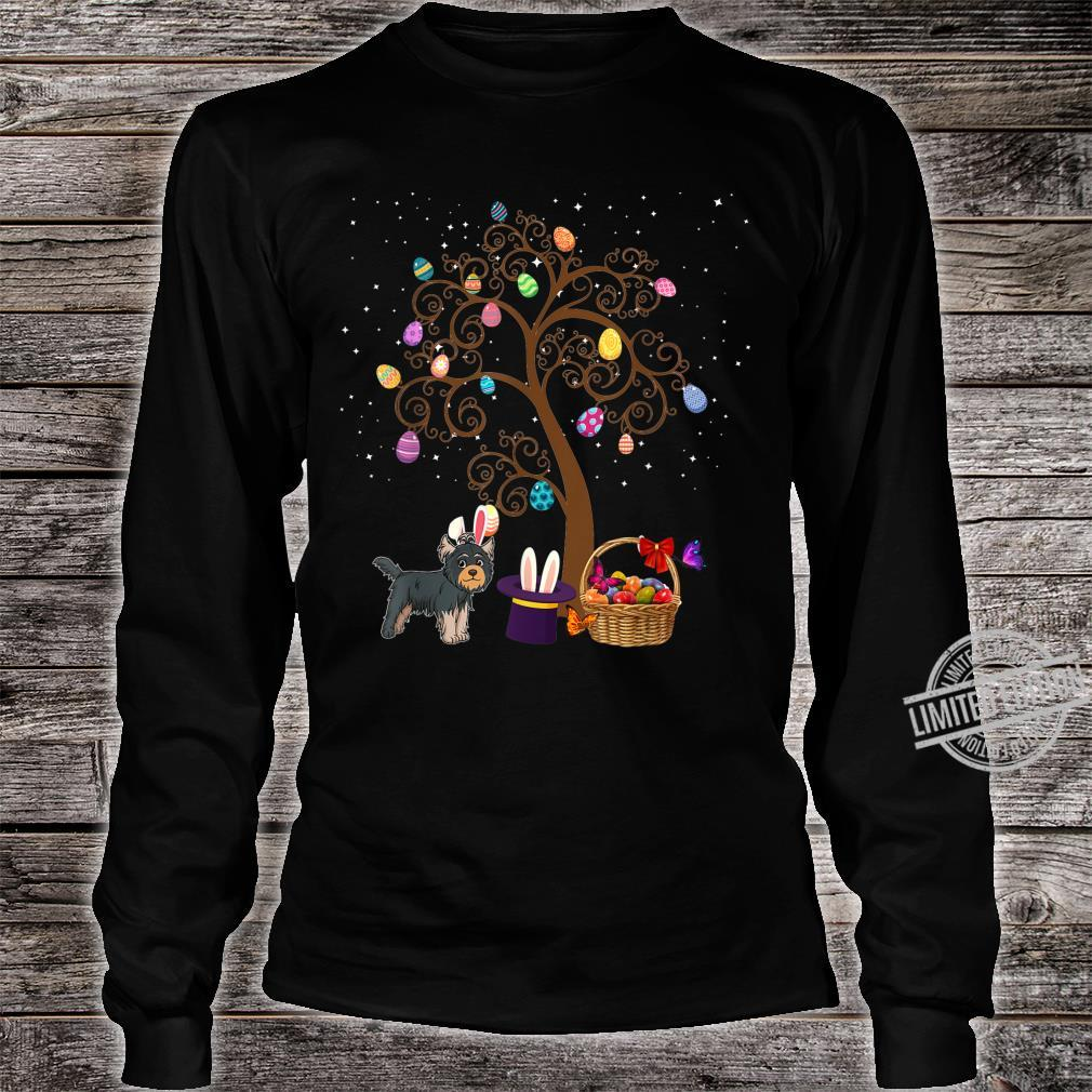Yorkshire Terrier Dog Hunting Egg Tree Bunny Easter Day Star Shirt long sleeved