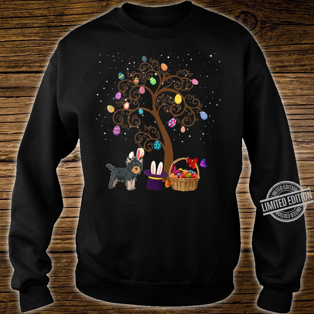 Yorkshire Terrier Dog Hunting Egg Tree Bunny Easter Day Star Shirt sweater