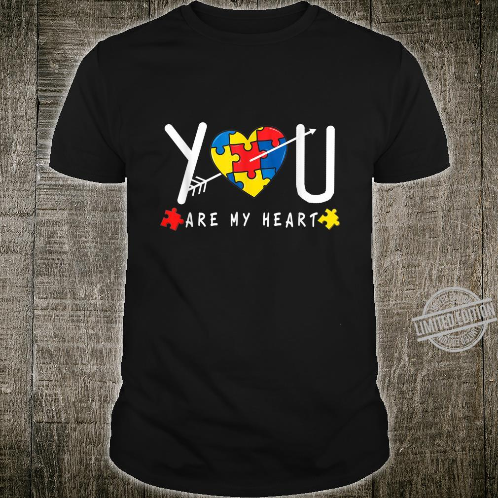You Are My Heart Autism Awareness Shirt Puzzle Heart Shirt